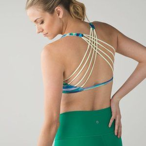 Lululemon Free To Be Bra Wild Seven Wonders / Zest